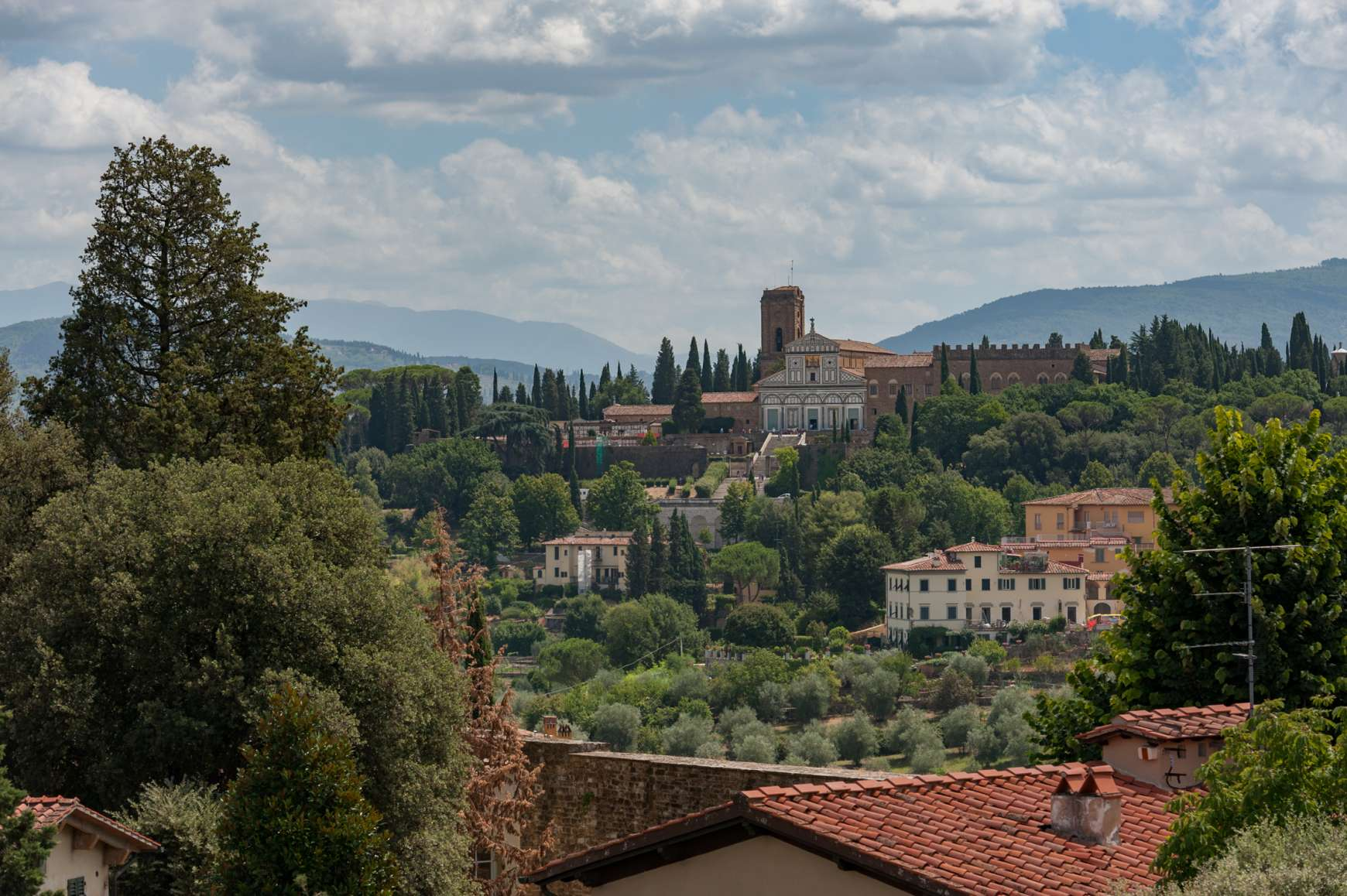 Distance view of Florence from terrace of Forte di Belvedere