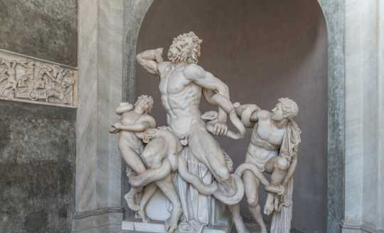 1st century marble statue of the Laoccon group in the Vatican Museum