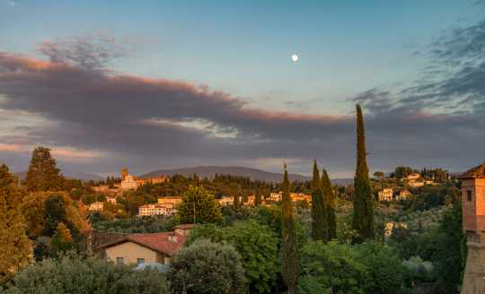 Evening view of the Tuscan countryside