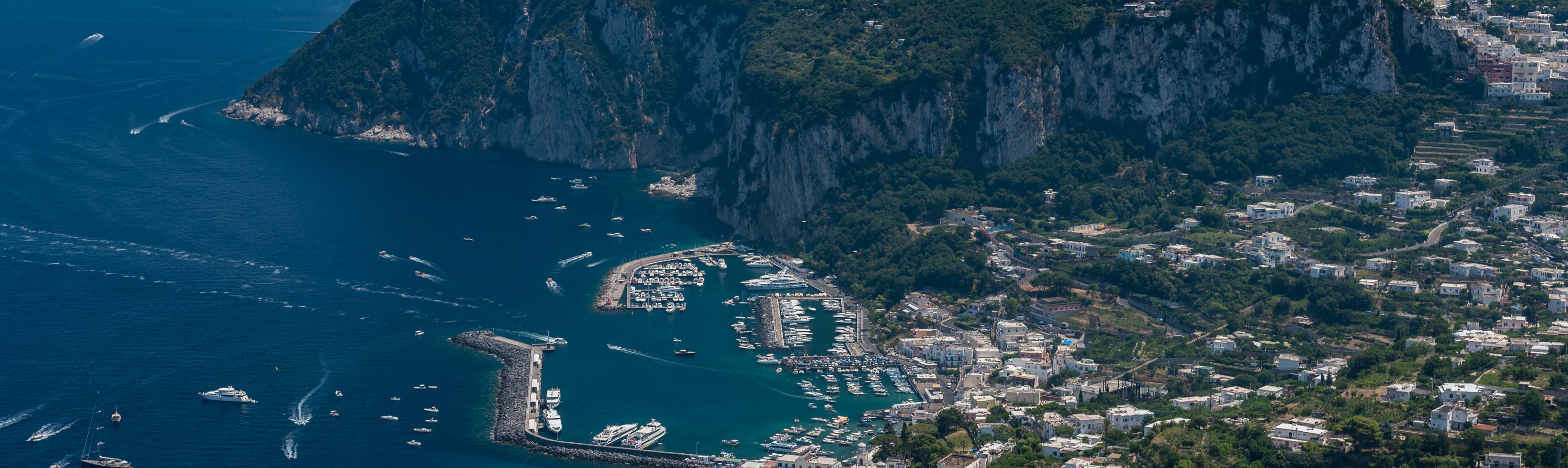 Stunning Bird's eye view of Capri and the surrounding sea