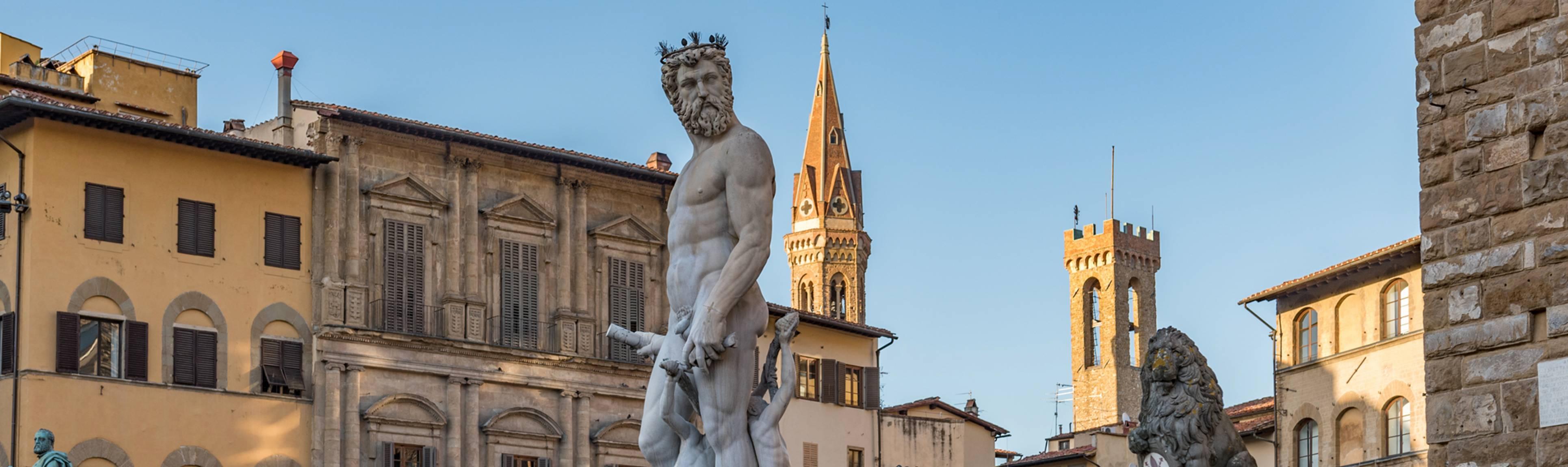 Statue of Neptune at Piazza della Signoria in Florence