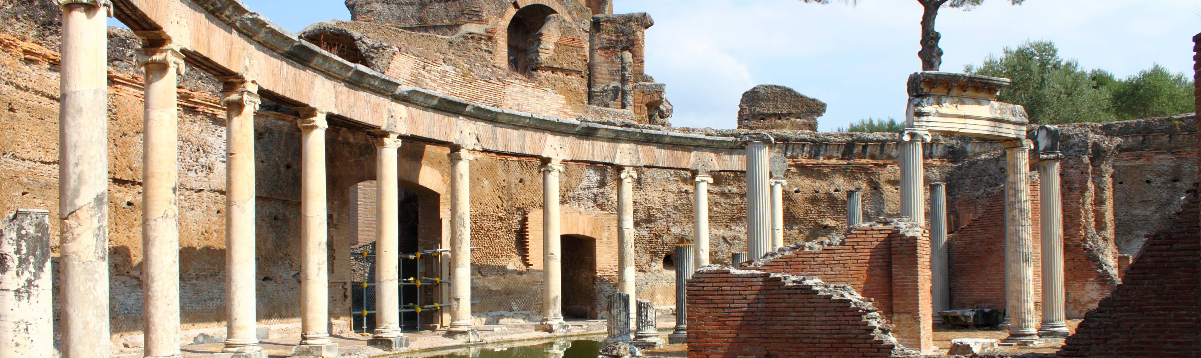 Columns surround Naval Theater at Hadrian's Villa near Rome