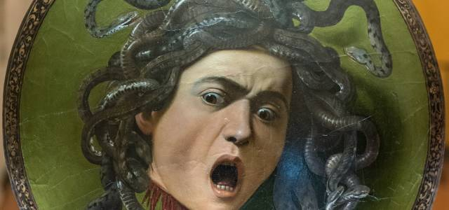 Face of Medusa with open mouth by Caravaggio