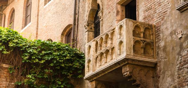 Official Capulet balcony on building in Verona, called 'Juliet balcony'