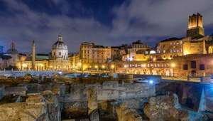 Evening view of the Roman Forum