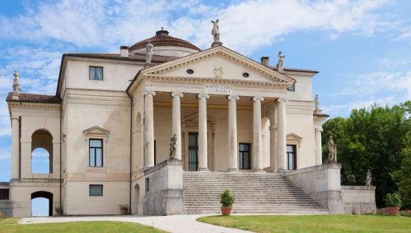 Palladian style villa along the Brenta Canal in Venice, Italy