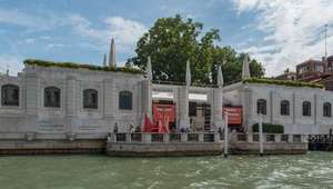 View from the water of Peggy Guggenheim Collection in Venice, Italy