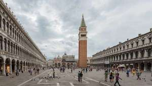 Long view of the Piazza San Marco in Venice