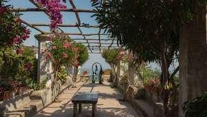 View of the terrace at Villa Rufolo, a jewel on the Amalfi Coast