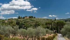 Landscape view of famed Tuscan countryside